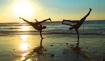 Brazil Capoeira on the beach