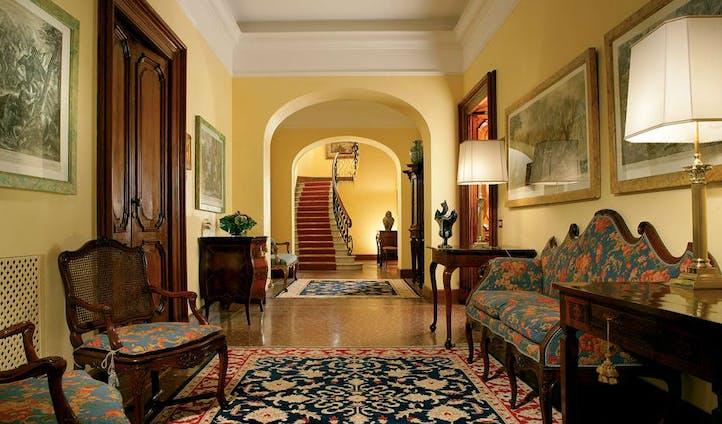 Hallway of luxury hotel in Rome