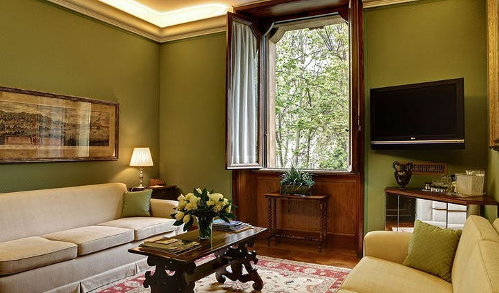Room of luxury hotel in Rome
