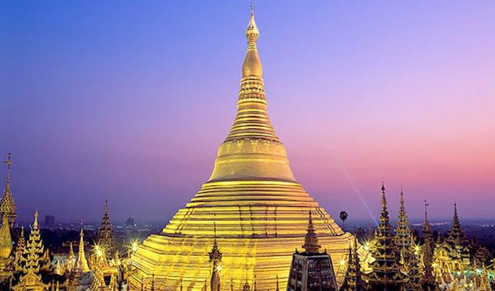 Cultural attraction in Yangon in Myanmar