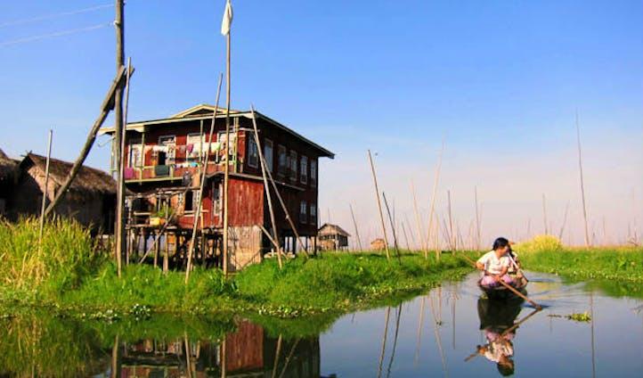 House at Inle Lake in Myanmar