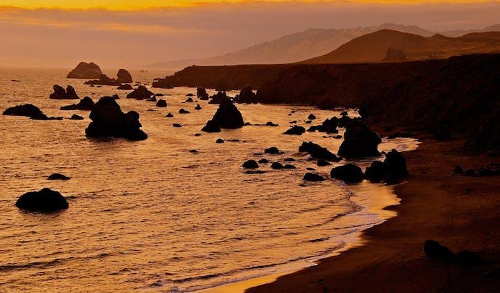 Sonoma county coastline, California