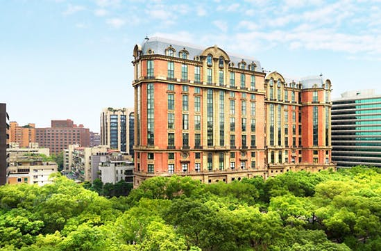 An outside view of the Mandarin Oriental, Taipei