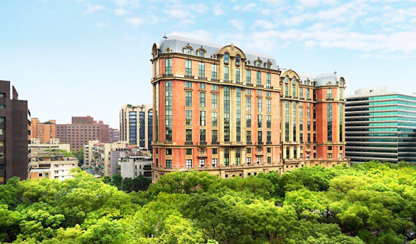 An outside view of the Mandarin Oriental, Taipei