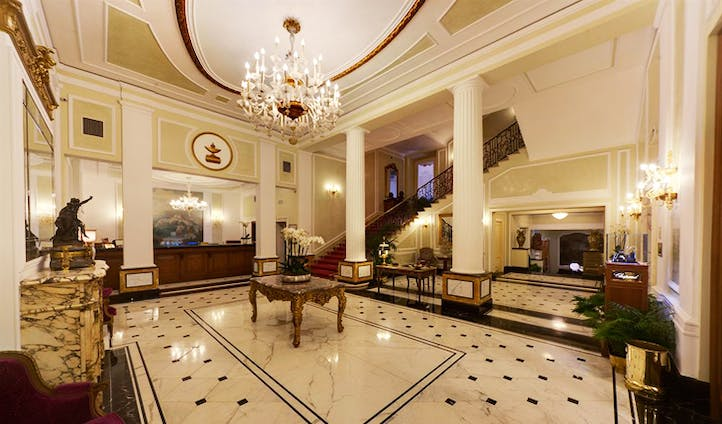 The lobby at the Grand Majestic