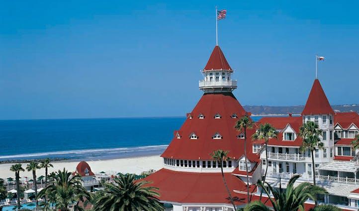 Hotel del Coronado's red roof, San Diego