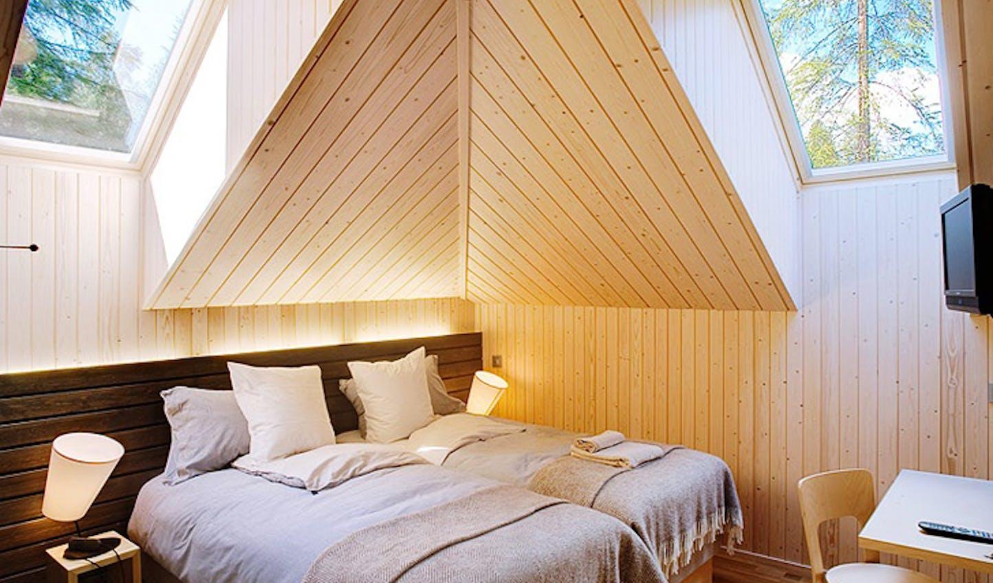 A villa bedroom, Finland