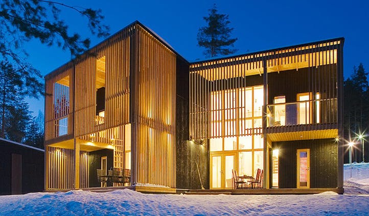 Winter villa, Finland