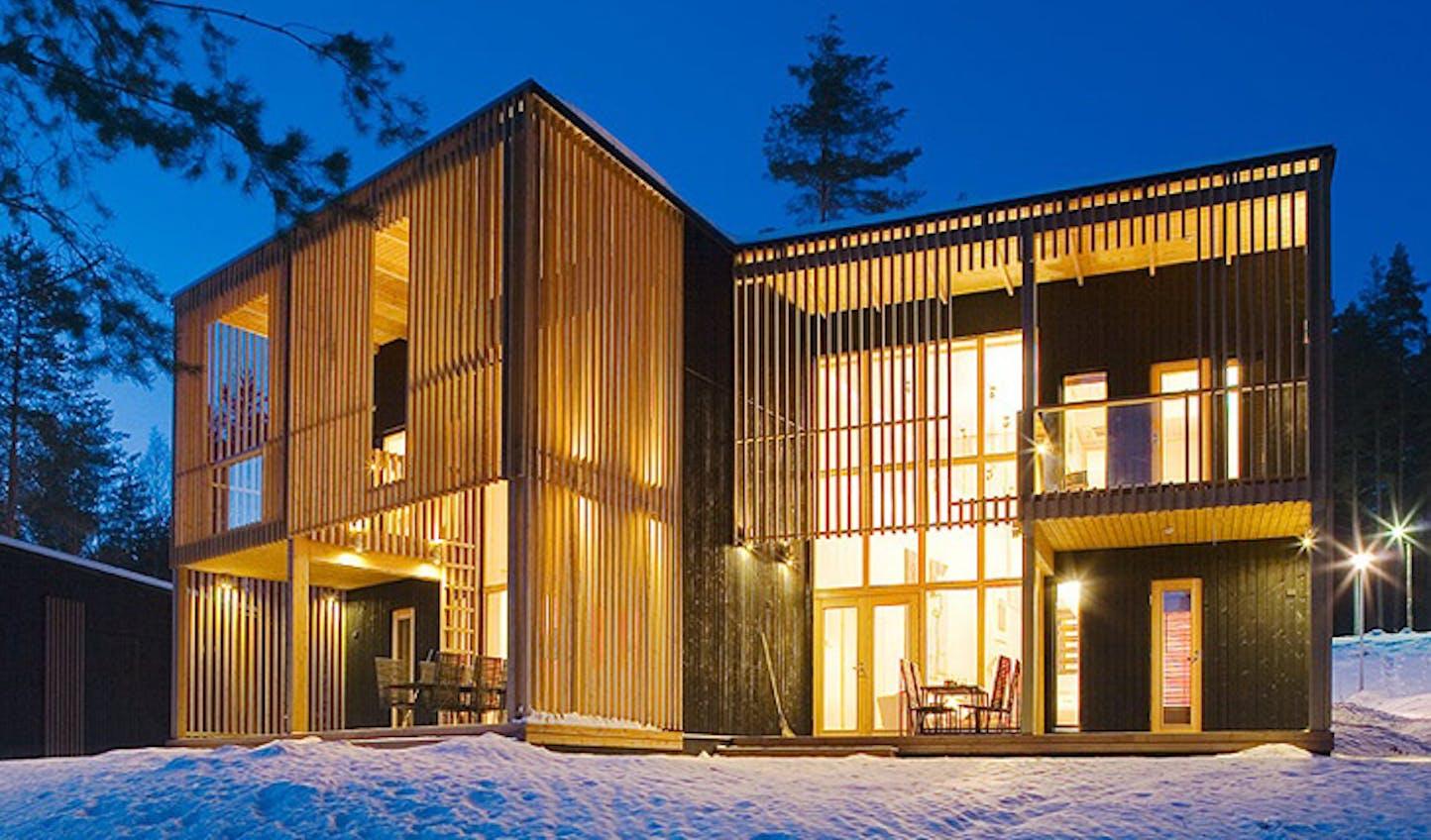 Winter villa, Finland