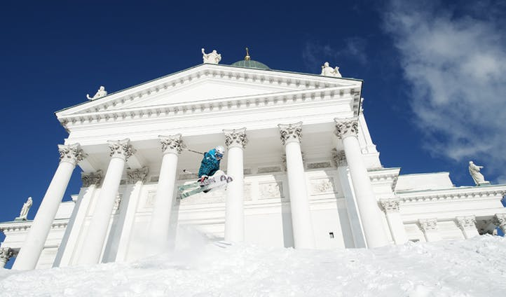 Helsinki in the snow, Finland