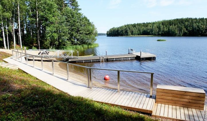 A jetty on a lake in Finland