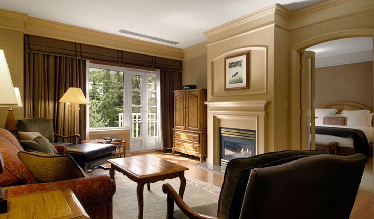 Luxury hotel the Fairmont Chateau Whistler in Whistler, Canada