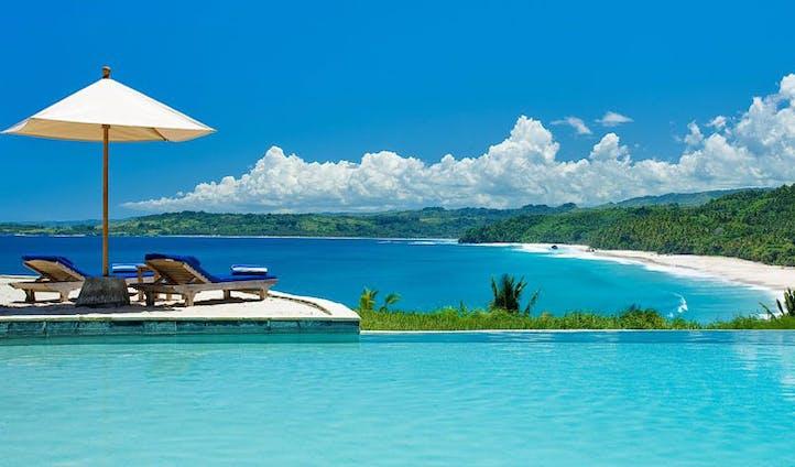 Luxury hotel pool at Nihiwatu, Sumba, Indonesia