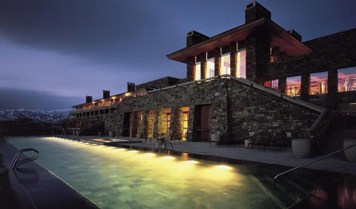 Luxury hotel Amangani, Wyoming, USA