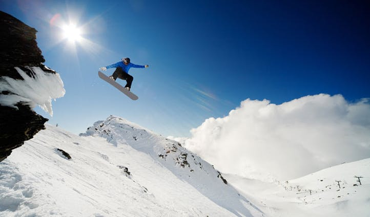 Snowboarding in New Zealand