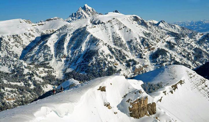 Skiing landscape in Wyoming, USA