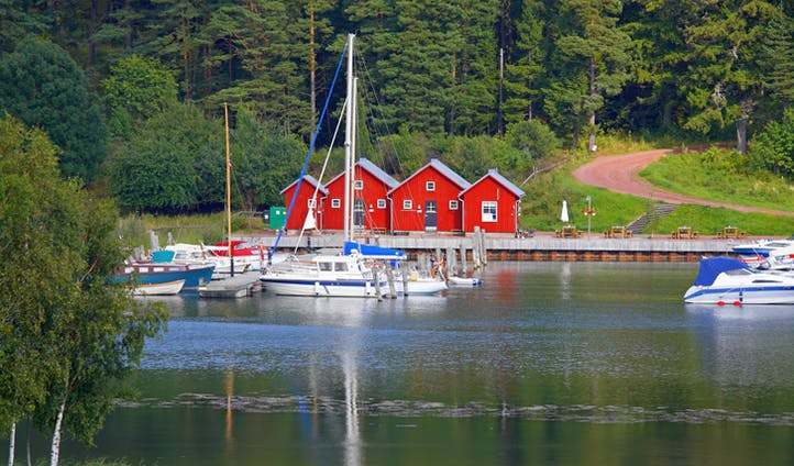 Kastelholm dock in the Åland Islands, Finland