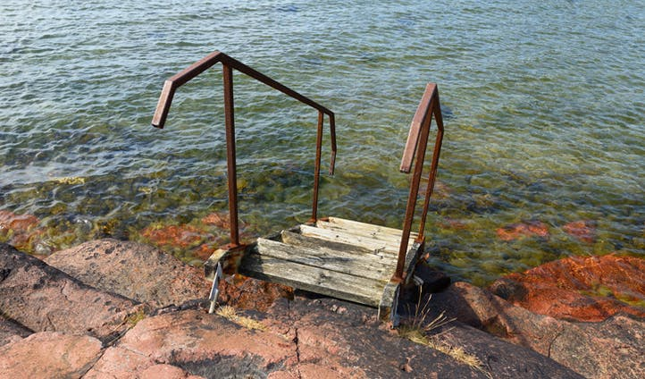 Old stairs in the Åland Islands, Finland