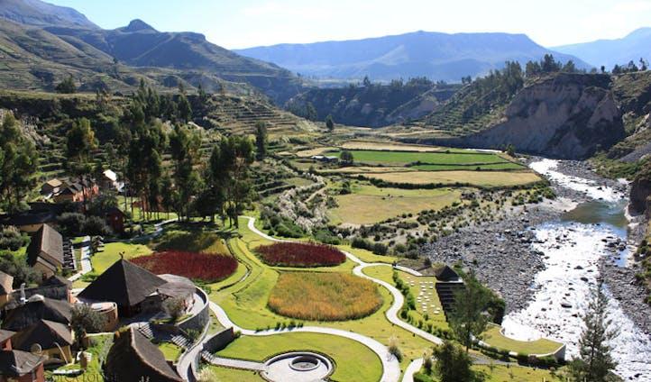 Luxury hotel the Colca Lodge Spa & Hot Springs, Colca Valley, Peru