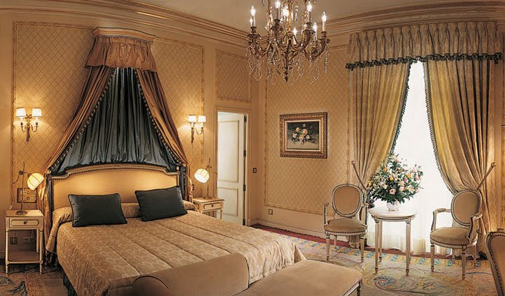 Luxury hotel suite at the Hotel Ritz Madrid, Madrid, Spain