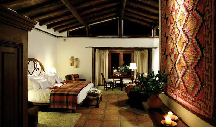 Luxury hotel suite at the Inkaterra Machu Picchu Pueblo, Peru