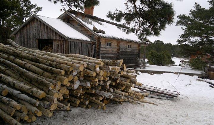 Log cabin Silverskar Aland Islands