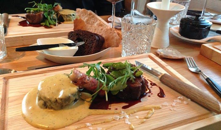 Dish at Smakbyn restaurant, Aland, Finland