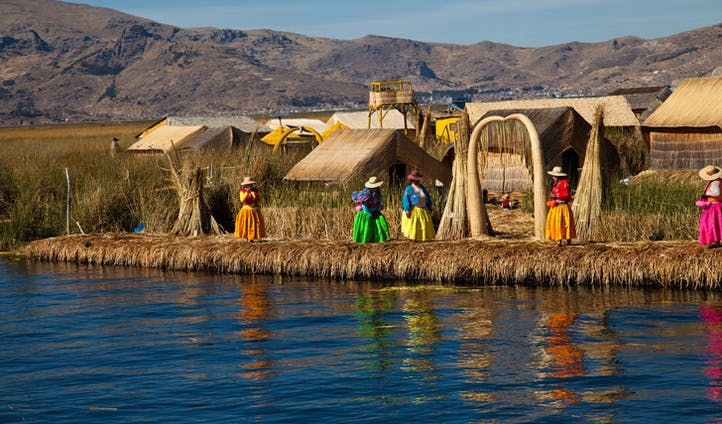 The Uros Floating Islands, Lake Titicaca, Peru