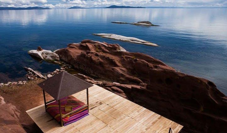 Luxury hotel Titilaka, Lake Titicaca, Puno, Peru