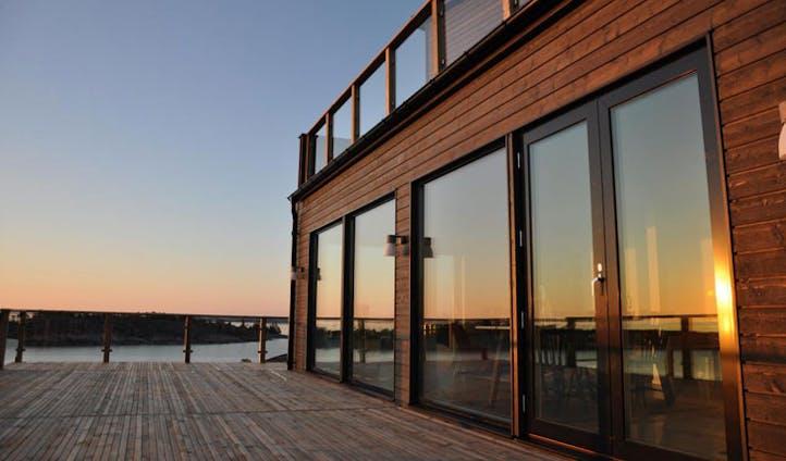 The main deck at Havsvidden Aland Islands