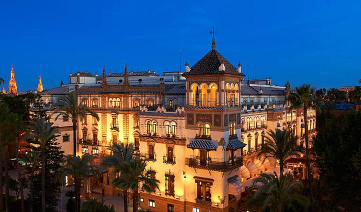Luxury hotel the Alfonso XIII, Seville, Spain