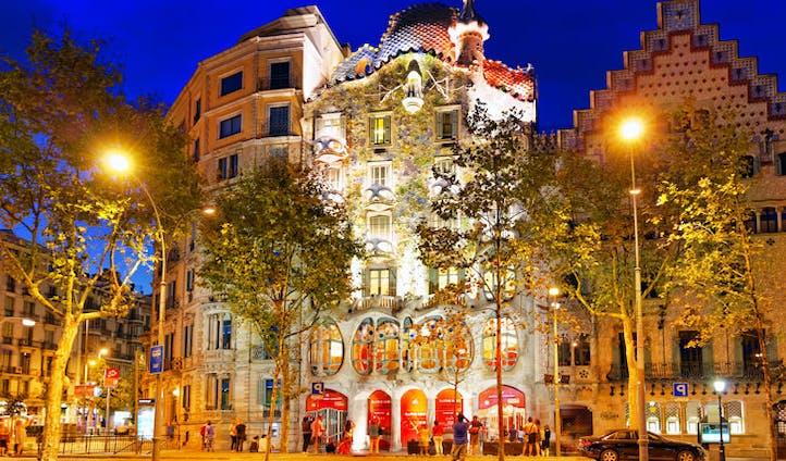Antoni Gaudí's Casa Battló, Barcelona, Spain