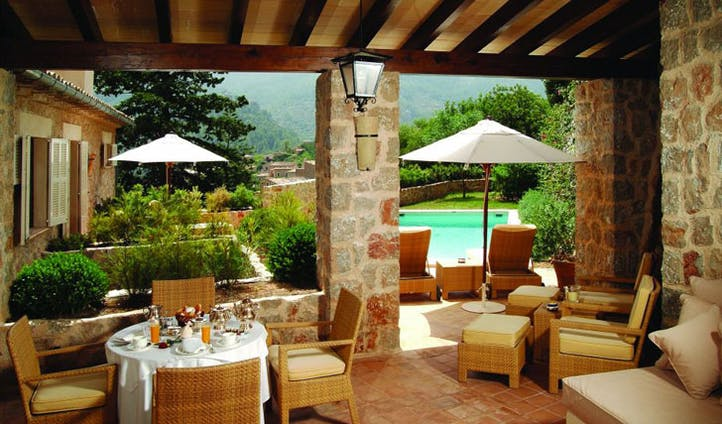 Luxury hotel suite pool at La Residencia, Mallorca, Spain