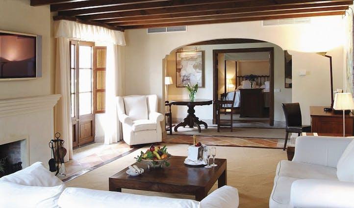 Luxury hotel suite at La Residencia, Mallorca, Spain
