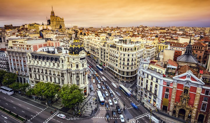 Gran Via, Madrid, Spain