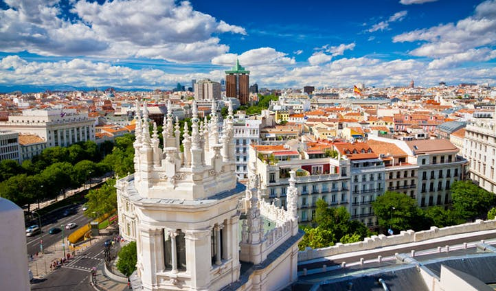 Madrid cityscape, Spain