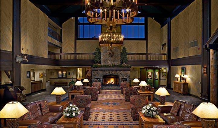 Entrance lobby at Tenaya Lodge | Yosemite