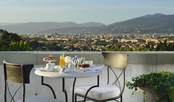 Breakfast at Villa Cora, Florence