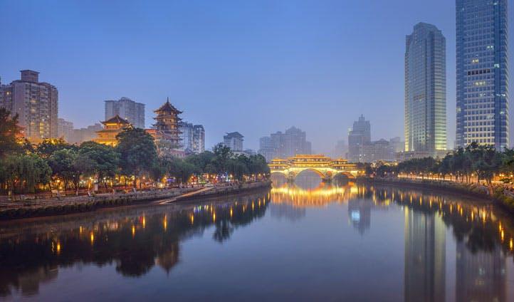 Chengdu City, China
