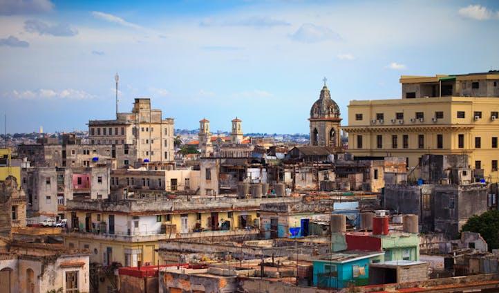 Havana old town sky line