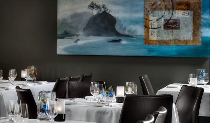 Gourmet dining at the Kensington Riverside Inn, Canada