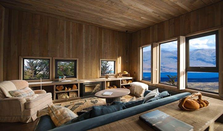 Living room at Awasi Lodge