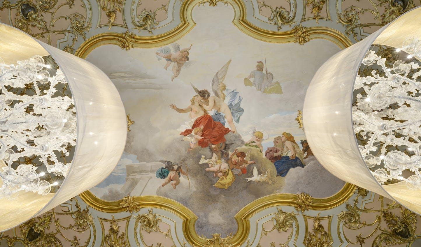 Original fresco at Villa Cora, Florence