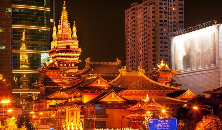 Golden Jing An Temple, Shanghai