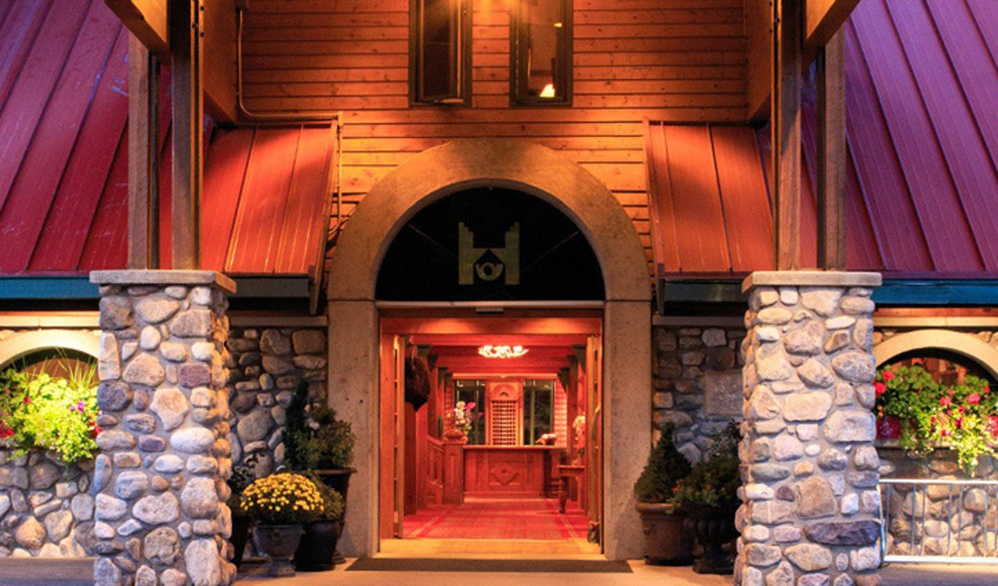 The entrance to The Post Hotel & Spa, Canada