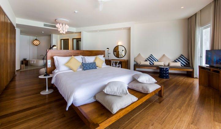 bedroom, amilla fushi, the maldives