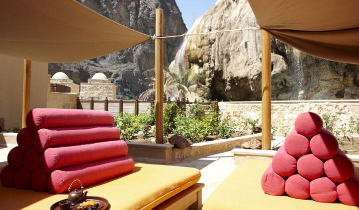 Relax outside Evason Ma'In Hot Springs, Jordan