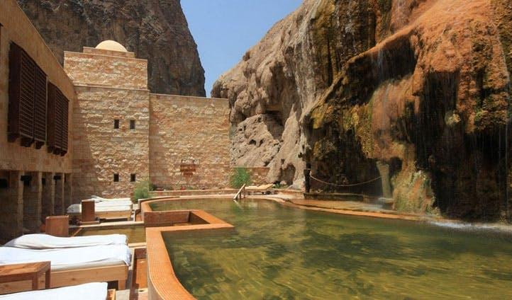 The incredible pool area Evason Ma'In Hot Springs ,Jordan