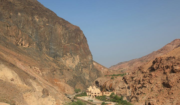 The spectacular setting of Evason Ma'In Hot Springs, Jordan