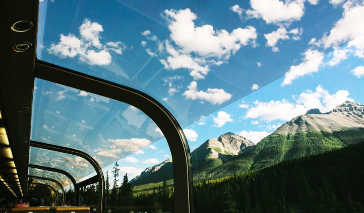 Views from the Rocky Mountaineer in Canada
